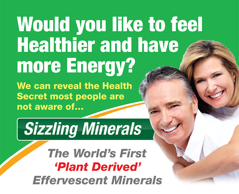 Sizzling minerals - be healthier, have more energy